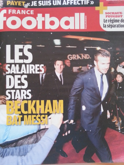 France Football's front page, March 19th, 2013